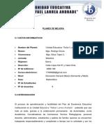 Plan de Mejora e.g.b Elemental y Media Matematica