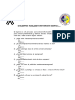 Diagramas de Encuesta a Los Empleados