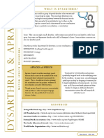 Dysarthria Apraxia Brochure