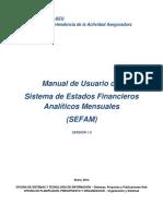 MANUAL SEFAM OD-SEFAM-01-V1.0 20-01-14