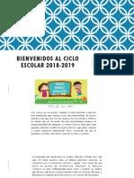 Bienvenidos Al Ciclo Escolar 2018-2019.Pptx Junta