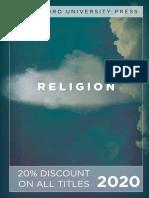 Stanford University Press   Religion 2020 Catalog