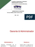 Administracion y Gerente