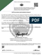 Certificado de Antecedente Penales de Yudith