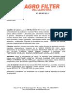 Carta de Presentacion Agrofilter Del Llano s.a.s[1]