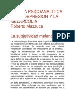 Clinica Psicoanalitica de La Depresion y La Melancolia