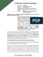 Escrito Excepcion Incompetencia Monterrico