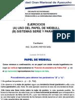 01 Ejercicio con Papel de Weibull, 02 ejercicios sistemas serie paralelo - Ing. Álvaro Reyes MSc - copia.ppt