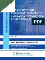 Guía de prevención, diagnóstico, tratamiento y vigilancia epidemiológica del botulismo alimentario