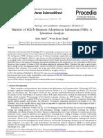 (Daniel) Journal - Barriers of B2B E-Business