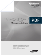 User manual for Samsung Syncmaster T22b300 monitor tv
