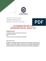 LA FORMACIÓN DE LOS DOCENTES EN EL SIGLO XXI
