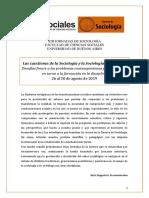 Jornadas sociología uba