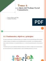 Fundamentos y Objeto Del Trabajo Social Comunitario