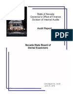 2019 audit of Nevada Board of Dental Examiners
