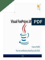 VFP vs Java Session Pour AtoutFox Lille Mars 2014