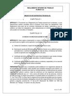 Plinco s.a. Reglamento Interno de Trabajo