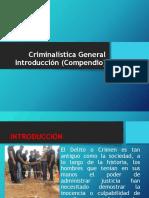 Introducción a la Criminalística