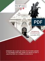 Emisiones de GEI y Cambio Climatico- PERU 2018