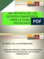 Importancia de Los Estados Financieros Para La Toma de Decisiones