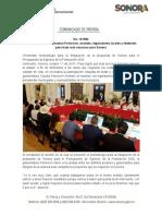 11-10-19 Hacen equipo Gobernadora Pavlovich, alcaldes, legisladores locales y federales para traer más recursos para Sonora