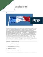 Frases Básicas en Francés