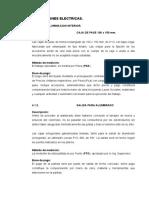 4. Especificaciones Técnicas Eléctricas