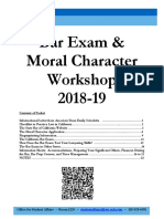 Bar Exam Workshop Packet 2018