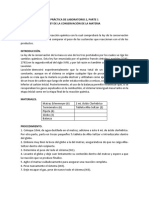 Laboratorio 2 Ley de Conservación de La Materia e Identificación de Sustancias Por Sus Propiedades