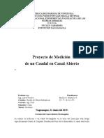 Proyecto de Medicion de Un Caudal en Canal Abierto