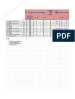 Tabulation of Pipe Support Distance