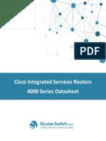Cisco 4000 Series Router Datasheet