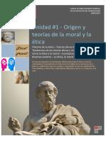 ORIGEN Y TEORIAS DE LA MORAL Y LA ETICA