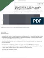 Toque de Queda en Chile en VIVO