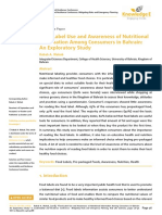 Food Label Use and Awareness of Nutritional