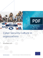 ENISA - WP2017 O-3-3-1 Cyber Security Cultures in Organizations