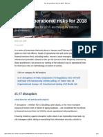 Top 10 Operational Risks for 2018 - Risk.net