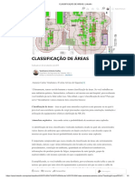 Classificação de Areas