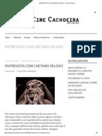 Entrevista Com Caetano Veloso – Cinecachoeira