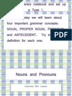 Nouns and Pronouns Overview