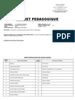 Projet Pédagogique Méca Tle F4BA