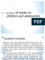 Effect of Media on Children and Adolescents