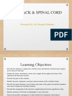 Lecture 2,3,4 and 5 - THE BACK AND SPINAL CORD - Khanna  - Full Slides PDF.pdf