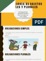 Obligaciones Simples y Plurales