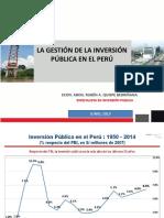 LA GESTION DE LA INVERSION PUBLICA EN EL PERU