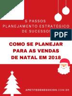 planejamento de vendas natal