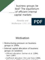 7 1 Internal Capital Should Business Groups Be Dismantled(JFE2006)