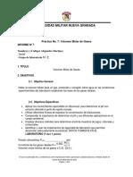 Práctica No 7 Volumen Molar de Gases