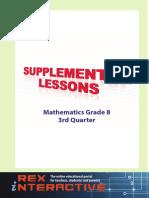 Supplemental Math High School Grade 8 3rd Q