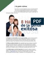 8 Hábitos de La Gente Exitosa